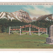 Great Divide Alberta - British Columbia Canada Vintage Postcard