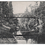 Bridge over San Lorenzo River Brookdale CA California Vintage Postcard