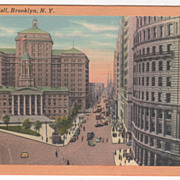 Borough Hall Brooklyn NY New York Vintage Postcard