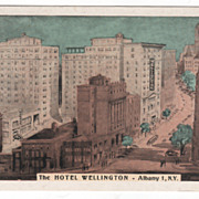 The Hotel Wellington Albany 1 NY New York Vintage Postcard