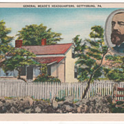 General Meade's Headquarters Gettysburg PA Pennsylvania Vintage Postcard