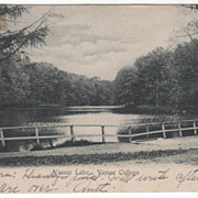 Vassar Lake Vassar College Poughkeepsie NY New York Vintage Postcard