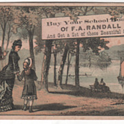 Buy Your School Books of F A Randall Unknown Place Victorian Trade Card