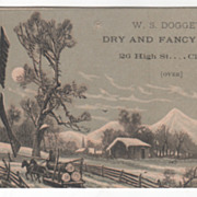 W S Doggett Dry and Fancy Goods 26 High St Clinton Unknown State Victorian Trade Card