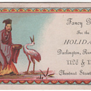 Fancy Goods for Holidays Darlington Runk & Co Philadelphia Victorian Trade Card