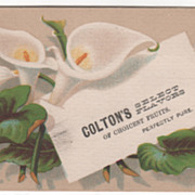 Colton's Select Flavors of Choicest Fruits Unknown Place Victorian Trade Card