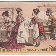 Smith Brothers Chemically Pure Borax T W Johnson & Co Salem MA Victorian Trade Card