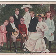 President Theodore Roosevelt and Family Vintage Postcard