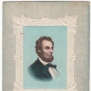 Abraham Lincoln The Martyred President Vintage Postcard