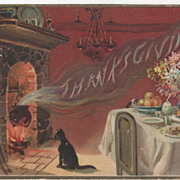 "Tuck ""Thanksgiving"" Steaming from the Cooking Pot Thanksgiving Vintage Postcard"