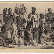 Ethnicity African Types of People Vintage Postcard