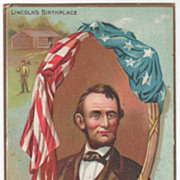 Lincoln Birthplace and Springfield IL Home Lincoln's Birthday Vintage Postcard