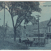 Depot Square Northfield VT Vermont Vintage Postcard