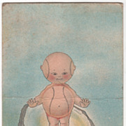 Child with Baseball Torso and Baseball Head Vintage Postcard