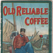 Old Reliable Coffee Used Paint Book Advertisement