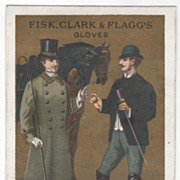 Fisk Clark and Flagg's Gloves Victorian Trade Card B