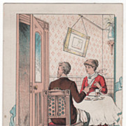 Eclipse Door Check and Spring Victorian Trade Card A