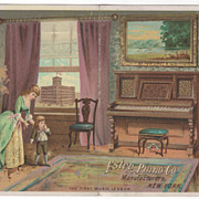 Estey Piano Co 159 Tremont St Boston MA Massachusetts Victorian Trade Card