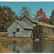 Mabry Mill Blue Ridge Parkway VA Virginia Vintage Postcard