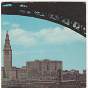 Terminal Group and Cuyahoga River Cleveland OH Ohio Vintage Postcard