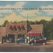 Advertising Fairyland Service Station Entrance Rock City TN Vintage Postcard