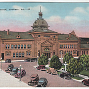 Union Station Augusta GA Georgia Vintage Postcard