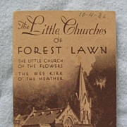 Miniature Booklet The Little Churches of Forest Lawn Glendale CA