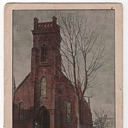 Camden New York NY Episcopal Church Postcard