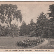Athletic Circle Vassar College Poughkeepsie NY New York Vintage Postcard