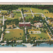Keuka College from the Air Penn Yan NY New York Vintage Postcard
