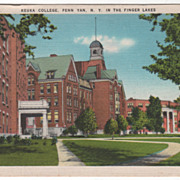 Keuka College Penn Yan NY New York in the Finger Lakes Vintage Postcard