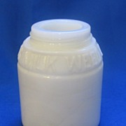 Ingram's Milk Weed Cream Milk Glass Bottle No Lid