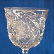 EAPG Early American Pattern Glass Dixie Belle Goblet