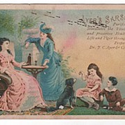 Victorian Trade Card Ayer's Sarsaparilla Invalid Lady