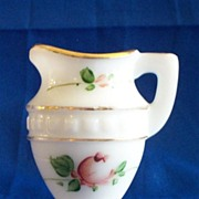 Small Early American Pressed Glass Milk Glass Pitcher
