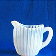 Small Beatty Rib White Opalescent Creamer