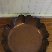 Copper Fluted Bowl Signed Drumgold