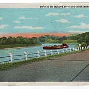Barge on Mohawk River Canal Herkimer New York NY PC