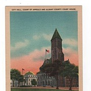 City Hall Court of Appeals and Albany County Court House New York postcard