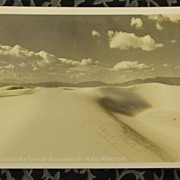 Real Photo of White Sands National Monument New Mexico Postcard