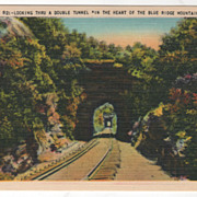 Looking thru a Double Tunnel in the Heart of the Blue Ridge Mountains NC North ...