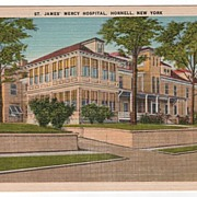 St James Mercy Hospital Hornell New York NY Postcard
