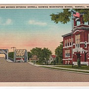 Highway & Bridges Entering Hornell New York NY Postcard