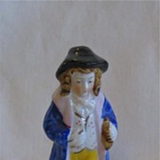 Made in Japan Figurine of Man in Colonial Dress Blue Coat