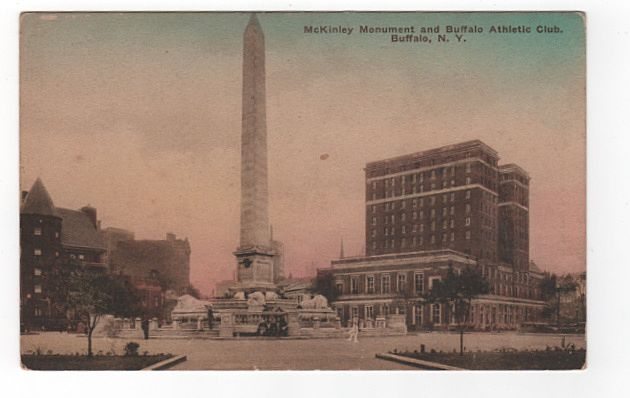 McKinley Memorial and Buffalo Athletic Club, Buffalo, New York Postcard