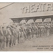 The Liberty Theatre Camp Lee Virginia VA Postcard