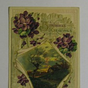 John Winsch Birthday Greetings Postcard that Opens