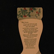 Paper Christmas Stocking Dime Collector for DePaul Institute