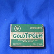 Green Gold Tip Wintergreen Gum Box