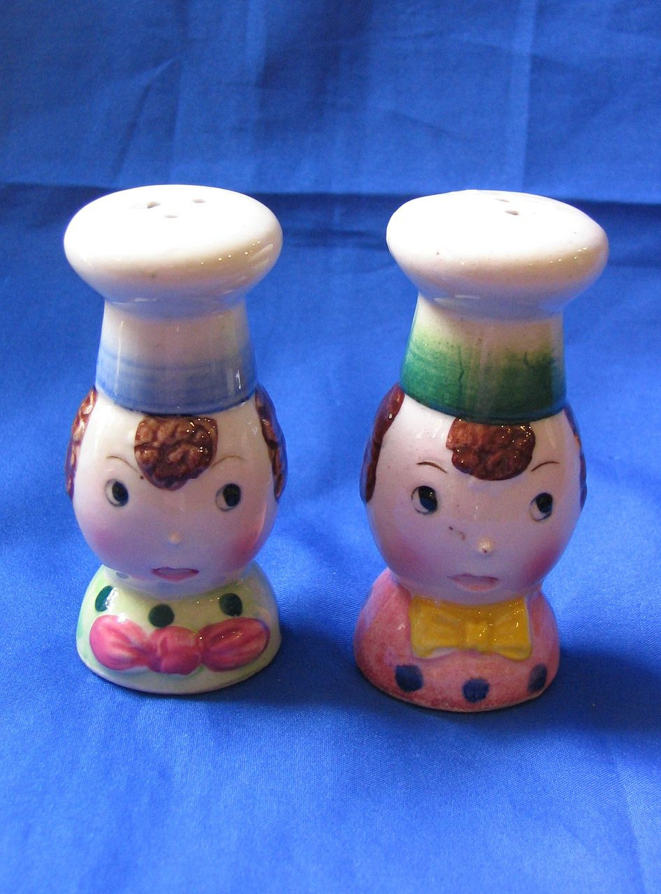 Pair of Cute Chef Salt and Pepper Shakers
